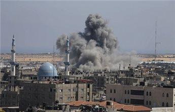 Bombe over Gaza